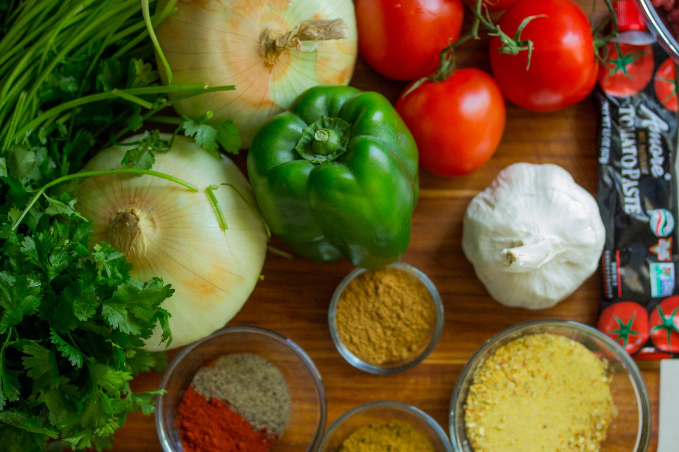 Kryddor och grönsaker